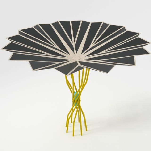 ombrelloni fotovoltaici